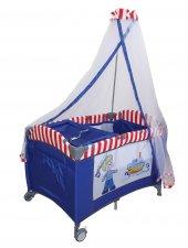 Crest Cr 208 Oyun Parkı Sepet Beşik Park Yatak Bebek Beşiği Denizci Lacivert