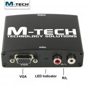 M Tech Mvhc0060 Vga Hdmı Çevirici, Ses Destekli, 1080p