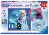 3x49 Parça Puzzle Ravensburger Frozen