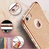 Iphone 7 Kılıf Simli Swarovki Taşlı Laser Silikon