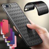 Iphone X Kılıf Hasır Air Vent Silikon