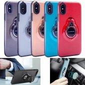 Iphone 6 6s Kılıf Yüzük Tutucu Mıknatıs Parlak Silikon