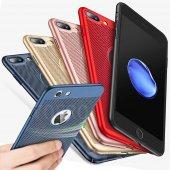 Iphone X Kılıf Dot Delikli Sert Rubber