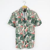 Bpm Erkek Çiçek Baskılı Spor Gömlek Kısa Kollu