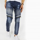 2y Erkek Jeans Pantolon Slimfit Ray Desen Fermuarlı