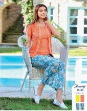 Dowry Bayan 3lü Pijama Takımı