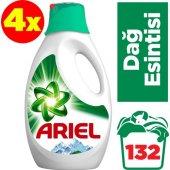 Ariel Sıvı Çamaşır Deterjanı Dağ Esintisi 33 Yıkama Beyazlar Ve Renkliler İçin 4&#039 Lü Paket