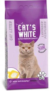 Cats White Lavanta Kokulu Topaklaşan Doğal Bentonit Kedi Kumu 6 L