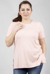 Uzun Basic T Shirt Yanlarda Yırtmaç