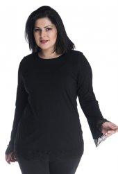 Ispanyol Kollu, Kolağzı Ve Eteği Dantelli T Shirt