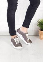 Rosa Gri Taşlı Bayan Spor Ayakkabı