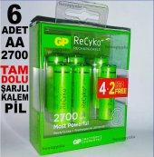 Gp Recyko Şarjlı Kalem Pil Seti,4+2 Promasyon Paketi 6 Adet Gp Re