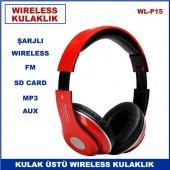 Katlanır Kulak Üstü Kablosuz Wireless Kulaklık Şarj Edilebilir Au