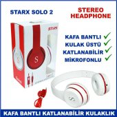 Starx Solo 2 Katlanabilir Mikrofonlu Kulak Üstü Kulaklık Stereo