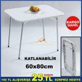 60x80cm Katlanır Portatif Piknik, Kamp Masası Kd
