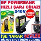 Gp Powerbank Dijital 1 Saat Hızlı Şarj Cihazı Kd