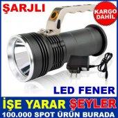 Su Geçirmez 8000w Şarjlı Led Işıklı El Feneri Kd