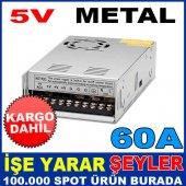5v 60 Amper Metal Kasa İç Mekan Led Adaptörü Kd