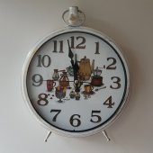 Eskitme Beyaz Renk Saat