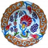 Oğuz Çini 30cm Karanfil Desenli Çini Tabak