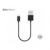 Blitzpower 2.1a İphone Lightning Kısa Şarj Ve Data Kablosu 0.3m