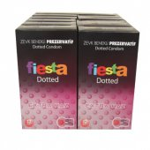 Fiesta Kondom Dotted 12 Kutu Özel Benekli Prezervatif