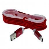 Meizu Pro 5 Type C Halat Kopmaz Kablo Şarj İp Örgülü 3 Al 2 Öde
