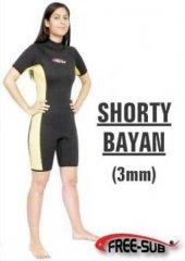Free Sub 3 Mm Bayan Shorty