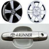 Toyota 4 Runner Kapı Kolu Jant Sticker
