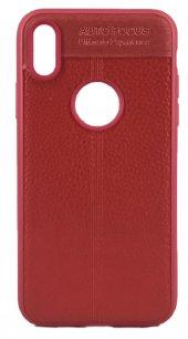 Fitcase İphone X Auto Focus Tpu Arka Kapak Kırmızı
