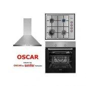 Oscar İnox Ankastre Set Simfer Oscar 8012 Inox Fırın 3214 Ocak 5662 Davlumbaz (Simfer Garantisi İle)