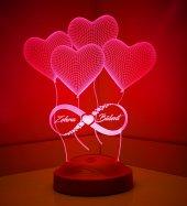 Sonsuz Aşk 3 Boyutlu Led Lamba