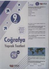 9.sınıf Coğrafya Yaprak Testleri Nitelik Yayınları