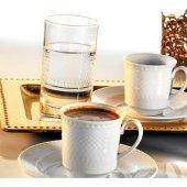 Kütahya Porselen Zümrüt 18 Parça Bardaklı Kahve Fincan Takımı