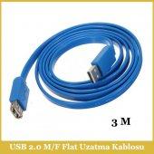 Yüksek Hızlı Usb 2.0 A M To A F Flat Uzatma Kablosu 3m