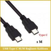Type C Erkek To Type C Erkek Kablo 1metre