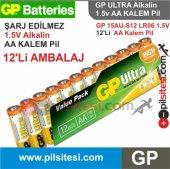 Gp Ultra Alkalin 12 Li Aa Kalem Pil