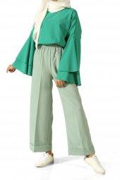 Su Yeşili Duble Paça Pantolon 309 216