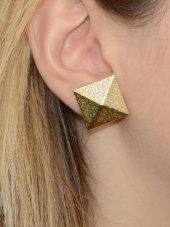 Piramit Küpe Altın Renk