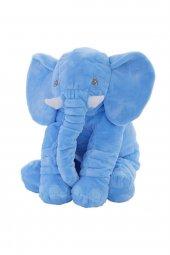 70cm Uyku Arkadaşım Büyük Mavi Fil Peluş Oyuncak Sağlıklı, Peluşc