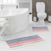 Marie Claire Paspas Stripe 100 Polyamid 57x57 Cm + 57x100 Cm 2li Set Multi