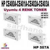 Hp M551 M570 M575 4 Renk Toner Ce400a Ce403a (507a)
