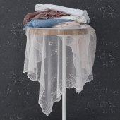 Marie Claire Masa Örtüsü Ancolie 100 Polyester 145*145 Cm Beyaz