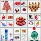 1001 Parça Lüks Osmanlı Kına Seti 7 Renk Kına Gecesi Malzemeleri