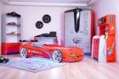Arabalı Yataklı Genç Odası Takımı , Süper Sports Mersedes Ful Led