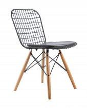 Levoli Home Style Metal Ahşap Ayaklı Sandalye
