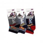 Ertuğ Erkek Çocuk Patik Kısa Çorap Asorti 3 Lü Paket