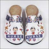 Hemşire Nurse Temalı Özel Tasarım Sabo Terlik Ost 840