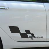Nissan Almera Yan Sport Oto Sticker Sağ Sol 2 Adet