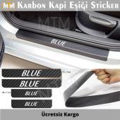 Hyundai Accent Blue Karbon Kapı Eşiği Sticker (4 Adet)